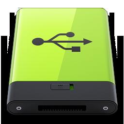 Hdd Green Usb Icon Download Hdrv Icons Iconspedia