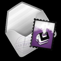 Mail purple