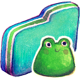 Frog Green Folder Icon Download Summer Love Icons Iconspedia
