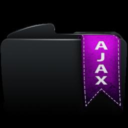 Folder black ajax