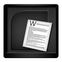Black Microsoft Word-128