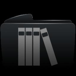 Folder black library