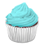 Cyan Cupcake Icon