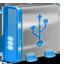 USB blue icon