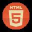 Retro Html5 Rounded Icon