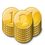 Gold Coin Stacks payment icon