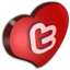 Twitter Cuore icon