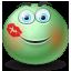 Kissed emoticon icon