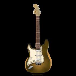 Stratocastor Guitar Orange Bright