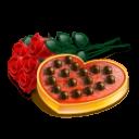 Chocolate heart roses