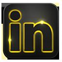 Linkedin neon glow-128