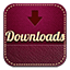 Downloads retro icon
