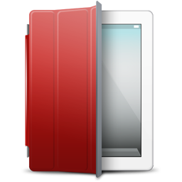 iPad 2 White red cover
