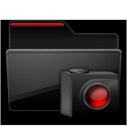 Folder Cameras black red
