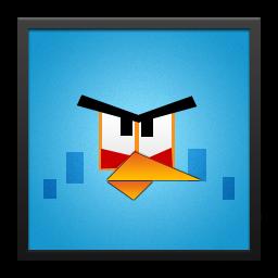 Blue Angry Bird Black Frame