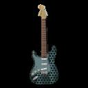 Stratocastor Guitar Metallicholes-128