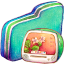 Computer Green Folder icon