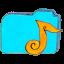 Folder b music icon