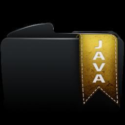Folder black java