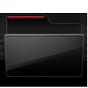 Folder black red-128