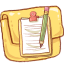 Folder Notepad Version icon