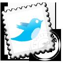 Grey Twitter stamp