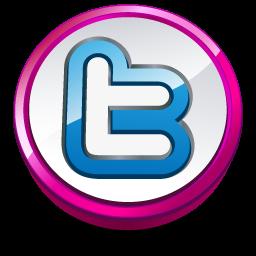 Twitter pink button