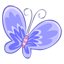 Blue butterfly-64