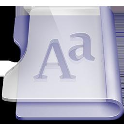 Purple font