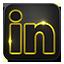 Linkedin neon glow icon