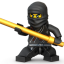 Lego Ninja Black icon