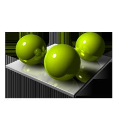 3 Green Spheares
