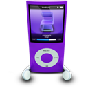 Purple iPod Nano-128