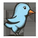 Woodprint Twitter Bird-128