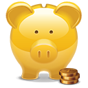Piggy Bank golden-128