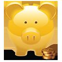 Piggy Bank golden-128