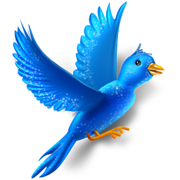 Flying bird sparkles