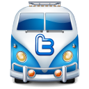 Twitter van blue-128