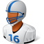 Footballplayer Male Dark icon