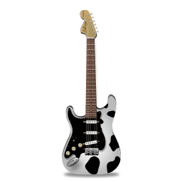 Stratocaster guitar cow