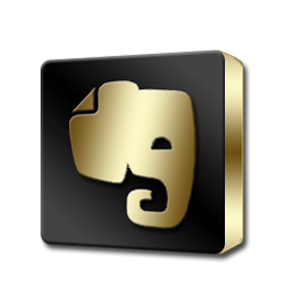 Evernote Black and Gold