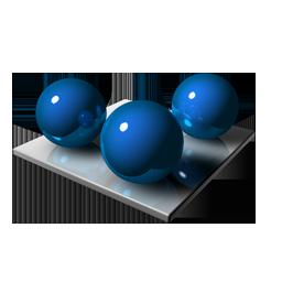 3 Blue Spheares
