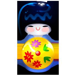 Kokeshi blue