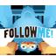 Twitter Head Down Icon