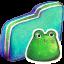Frog Green Folder icon
