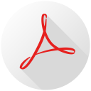 Acrobat Reader Long Shadow-128