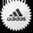Adidas White logo icon