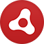 Adobe Air flat circle icon