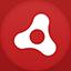 Adobe Air flat circle Icon