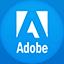 Adobe flat circle icon